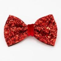 Glitter mini bow clip