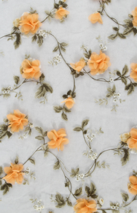 Multicolor Embroidery Lace Fabric
